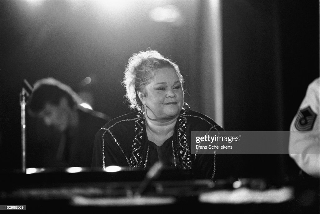 <a gi-track='captionPersonalityLinkClicked' href=/galleries/search?phrase=Etta+James&family=editorial&specificpeople=833123 ng-click='$event.stopPropagation()'>Etta James</a> performs at the North Sea Jazz Festival in the Hague, the Netherlands on 12 July 1990.