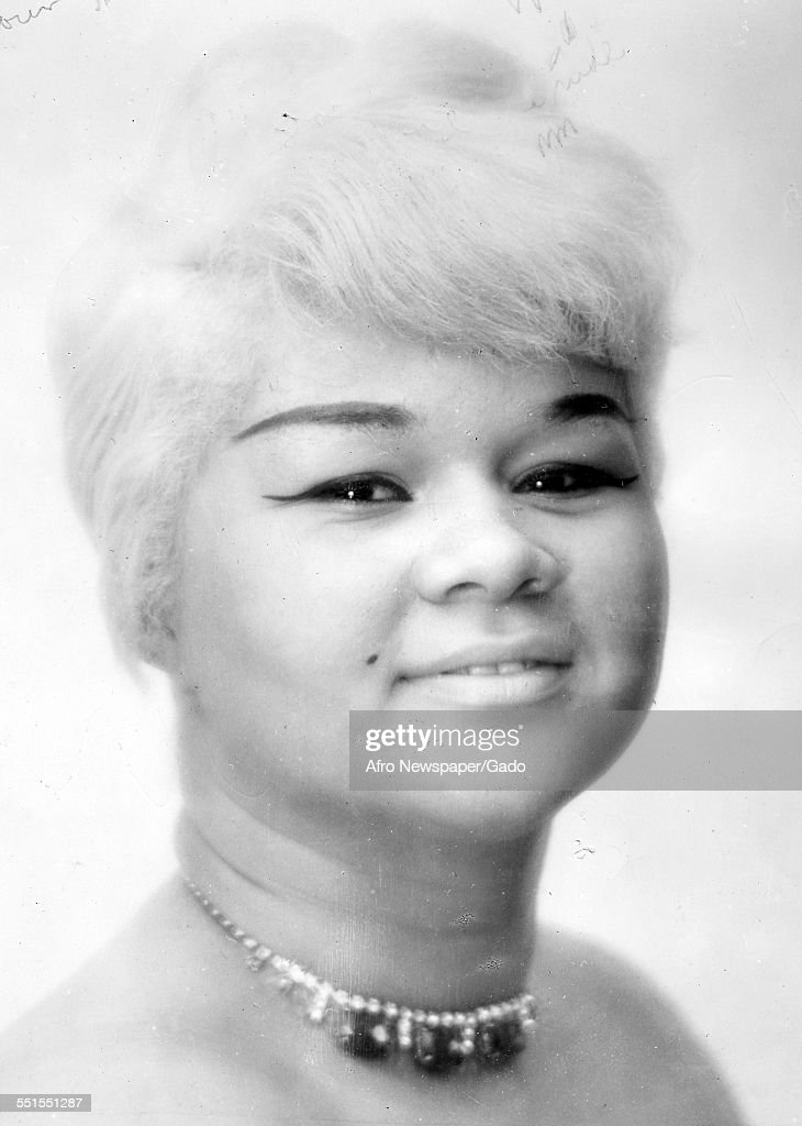 <a gi-track='captionPersonalityLinkClicked' href=/galleries/search?phrase=Etta+James&family=editorial&specificpeople=833123 ng-click='$event.stopPropagation()'>Etta James</a>, singer and songwriter, a youthful portrait, wearing a choker with short blonde hair, 1960.