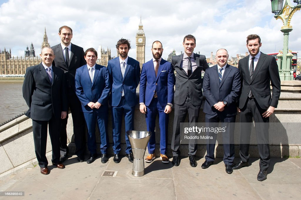Ettore Messina Head Coach of CSKA Moscow Nenad Krstic #12 Xavier Pascual Head Coach of FC Barcelona Regal Juan Carlos Navarro #11 Vassilis Spanoulis...
