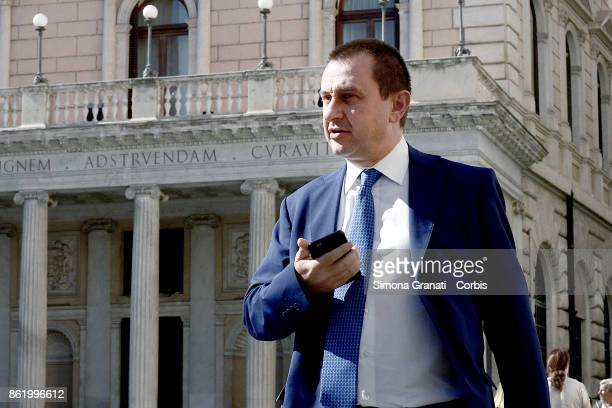 Ettore Rosato member of Democratic Party in Piazza Colonna on October 16 2017 in Rome Italy