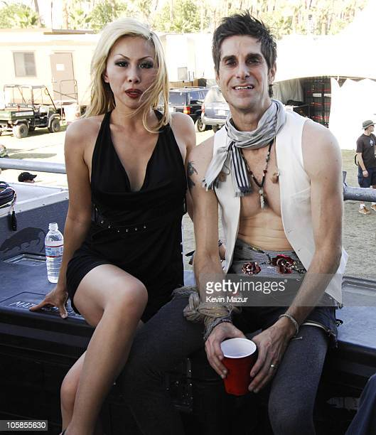 Etty Farrell and Perry Farrell of Satellite Party during 2007 Coachella Valley Music and Arts Festival Day 1 at Empire Polo Field in Indio California...