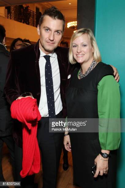 Euan Rellie and Lisa Marsh attend Anthropologie Hosts US Book Launch of BLOW BY BLOW at Anthropologie at Rockefeller Center on November 3 2010 in New...