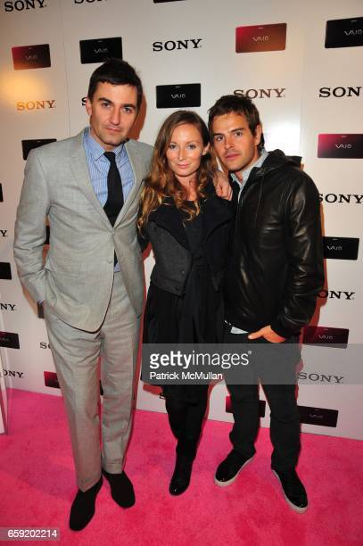 Euan Rellie Bridget McCall and Nick Messner attend SONY introduces SONY VAIO LIFESTYLE PC hosted by PAPER MAGAZINE at SONY on February 11 2009 in New...