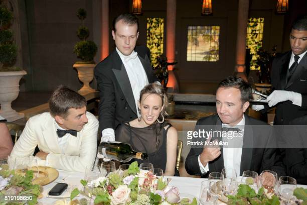 Euan Rellie Hope Atherton and JeanPhilippe Delmas attend HAUT BRION 75th Anniversary at The Metropolitan Museum of Art on July 12 2010 in New York...