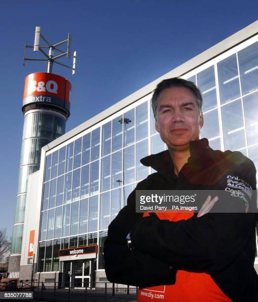 Euan Sutherland outside the BQ store in New Malden Surrey the chain's greenest ever store which will be at least 50 per cent more efficient in its...