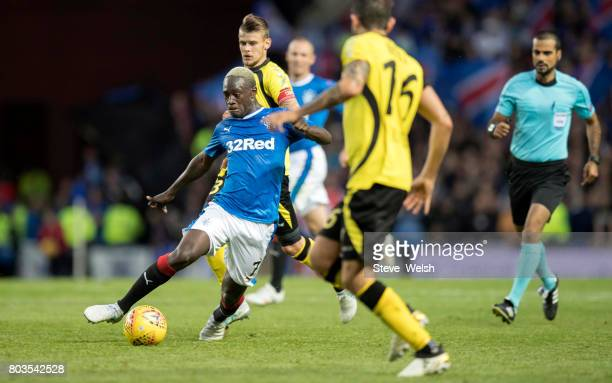 Euciodalcio Gomes of Rangers takes control during the UEFA Europa League first qualifying round match between Rangers and Progres Niederkorn at the...