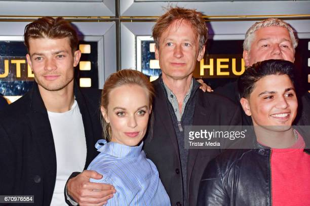 Eugen Bauder Friederike Kempter Jan Henrik Stahlberg and Hussein Eliraqui attend the family and friends screening of the film 'Einsamkeit und Sex und...