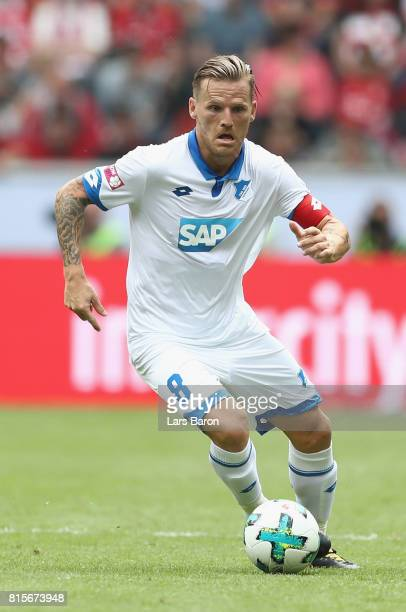 Eugen Polanski of Hoffenheim runs with the ball during the Telekom Cup 2017 match between Bayern Muenchen and 1899 Hoffenheim at on July 15 2017 in...