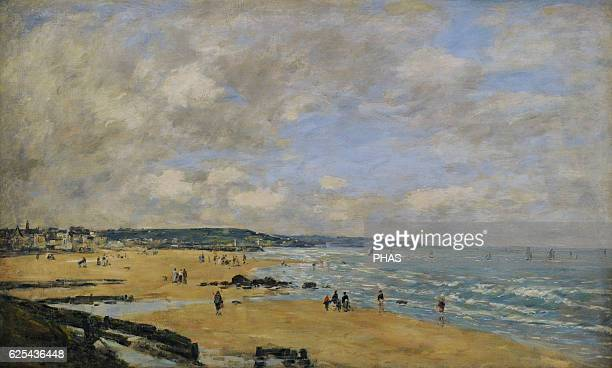 Eugene Boudin French painter Beach at Trouville 1893 Oil on canvas The State Hermitage Museum Saint Petersburg Russia