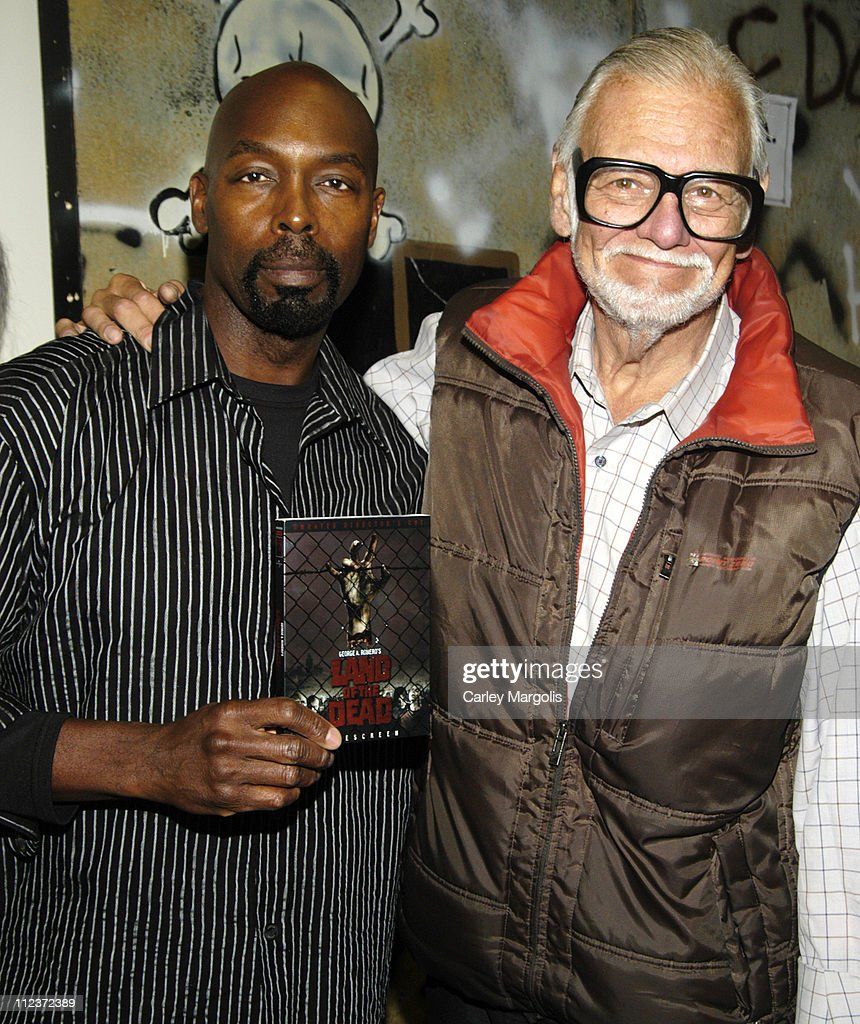 Eugene Clark and George Romero during 2006 Big Apple Comic Book, Art, Toy and Horror Expo - Press Reception at Penn Plaza Pavilion in New York City, New York, United States.