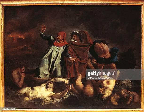 Eugene Delacroix Dante's Boat 1822
