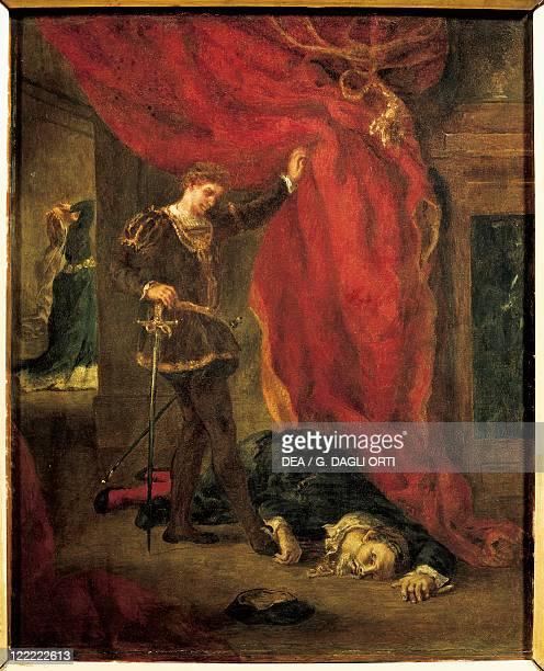 Eugene Delacroix Hamlet before the Body of Polonius 1855