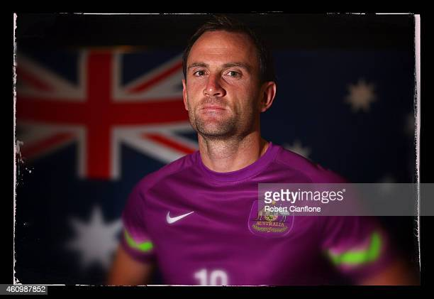Eugene Galekovic of Australia poses during an Australian Socceroos headshot session at the InterContinental Hotel on January 3 2015 in Melbourne...