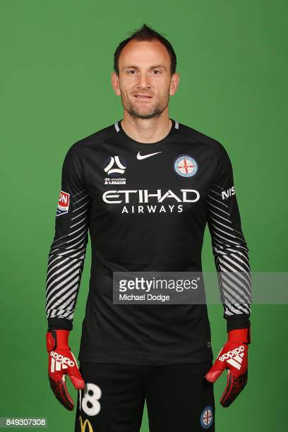 Eugene Galekovic poses during the Melbourne City 2017/18 ALeague season headshots session Fox Footy Studios on September 19 2017 in Melbourne...