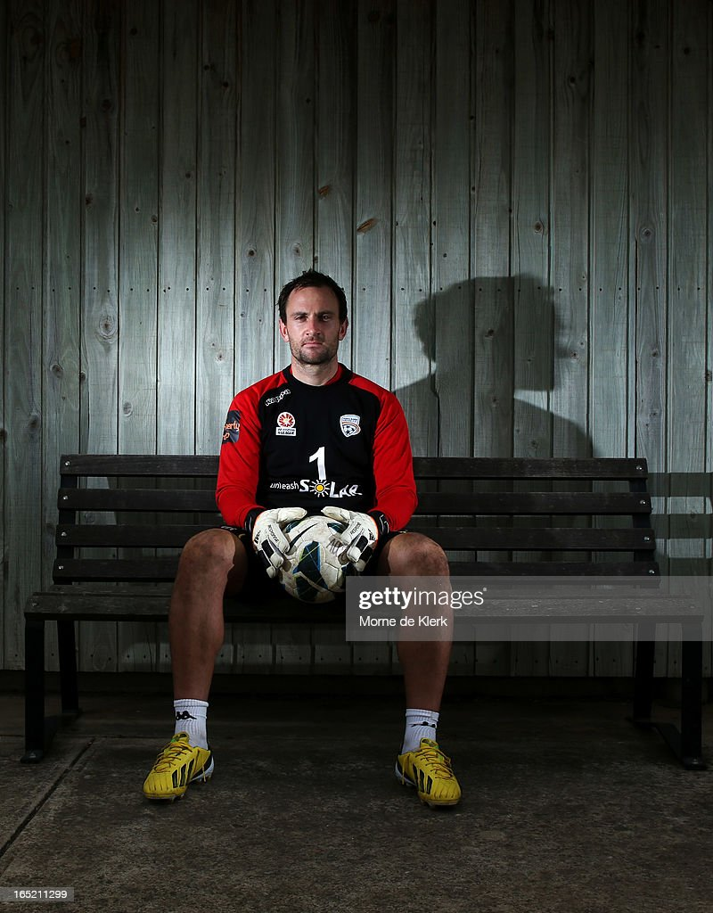 Eugene Galekovic poses for a picture after an Adelaide United A-League training session at the South Australian Sports Institute on April 2, 2013 in Adelaide, Australia.