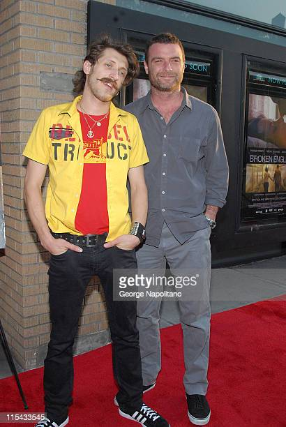 Eugene Hutz and Liev Schreiber during 'Broken English' New York City Premiere Arrivals at Landmark Sunshine Cinema in New York City New York United...