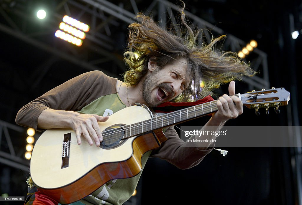 <a gi-track='captionPersonalityLinkClicked' href=/galleries/search?phrase=Eugene+Hutz&family=editorial&specificpeople=548955 ng-click='$event.stopPropagation()'>Eugene Hutz</a> of Gogol Bordello performs as part of the 2013 Orion Music + More Festival on Bell Isle on June 9, 2013 in Detroit, Michigan.