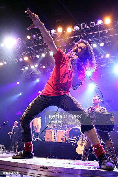 Eugene Hutz of Gogol Bordello performs at Terminal 5 on January 2 2015 in New York City
