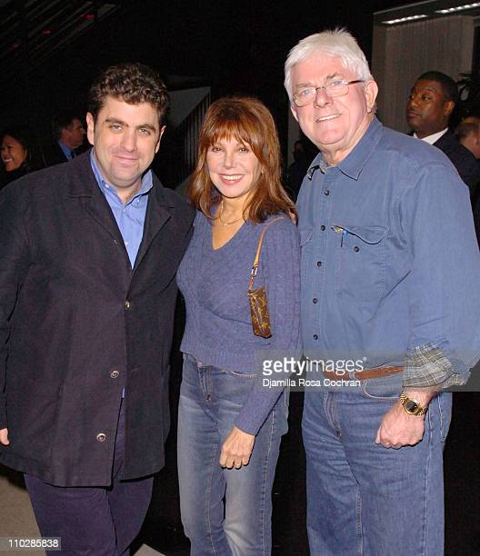 Eugene Jarecki Marlo Thomas and Phil Donahue during 'Why We Fight' New York City Screening January 17 2006 at Sony Screening Room in New York City...