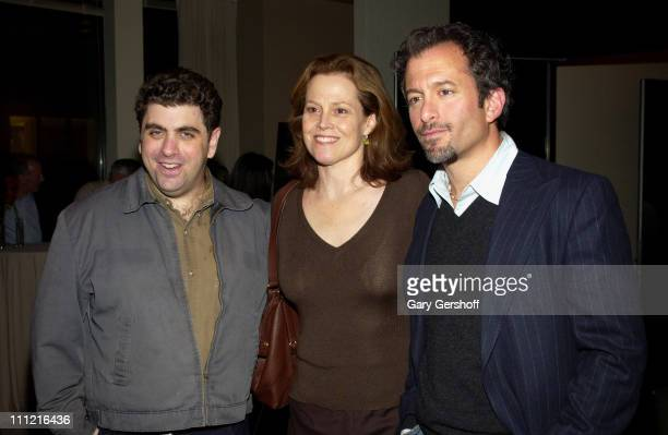 Eugene Jarecki Sigourney Weaver and Andrew Jarecki attend the reception for the documentary film 'Why We Fight' written and directed by Eugene...