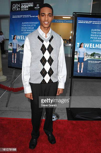 Eugene Jones arrives at the Los Angeles Premiere of 'Towelhead' at the Arclight Cinemas on September 3 2008 in Hollywood California