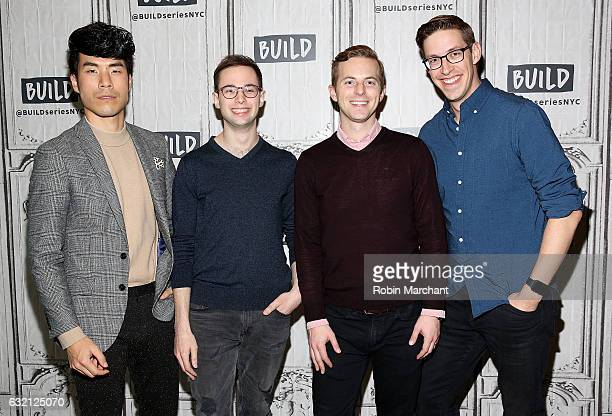 Eugene Lee Yang Zach Kornfeld Ned Fulmer and Keith Habersberger of The Try Guys attends Build Series Presents Buzzfeed Motion Pictures Staff at Build...
