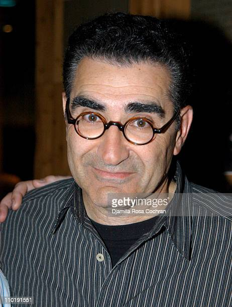 Eugene Levy during Eugene Levy Appears at Planet Hollywood For 'New York Minute' Memorabilia Donation at Planet Hollywood Times Square in New York...