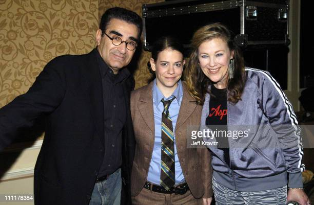 Eugene Levy Rebecca Drysdale and Catherine O'Hara