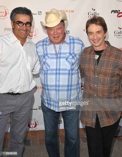 Eugene Levy William Shatner and Martin Short arrive to the 21st Annual Simply Shakespeare Fundraiser at Royce Hall UCLA on May 9 2011 in Westwood...