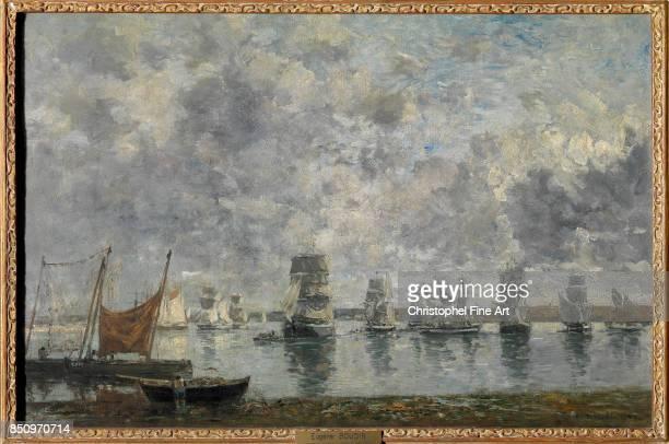 Eugene Louis Boudin Sailing Ships Camaret 1872 Oil on canvas 050 x 076 m Paris musee du Louvre