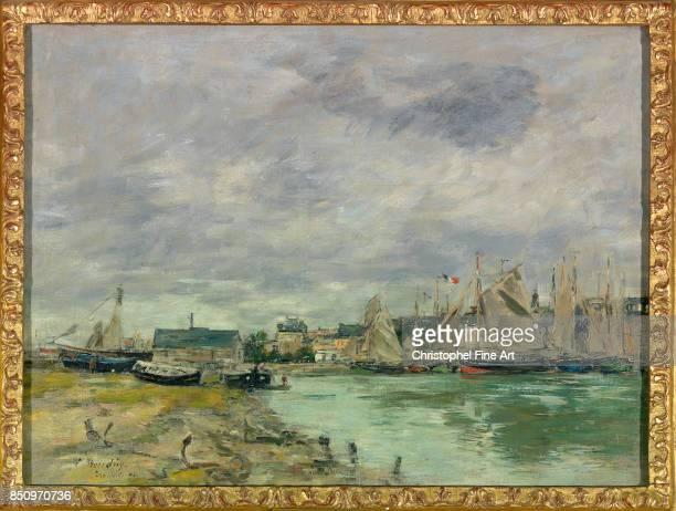 Eugene Louis Boudin Trouville Harbour 1891 Oil on canvas 041 x 055 m Paris musee du Louvre