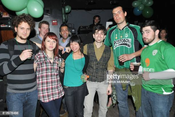 Eugene Mim Agatha Mim Wendy Chan Mike Battaglia Anthony Napolidano and Kevin Moran attend PATRICK MCMULLAN's St Patrick's Day Party at Santos Party...
