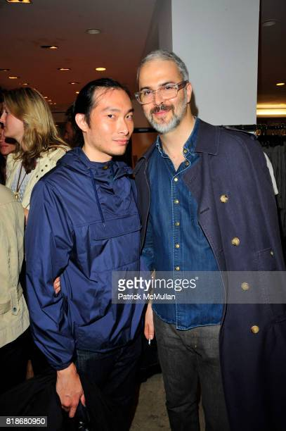 Eugene Ong and Bruno Grizzo attend EDUN Grow To Sew A New African Inspired Collection at Barneys on June 9 2010 in New York CIty