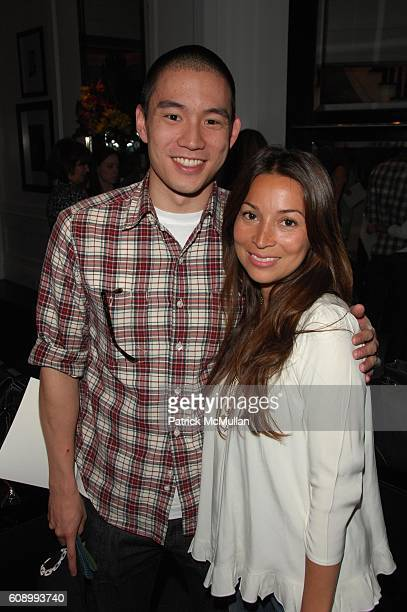 Eugene Tong and Claudia Mata attend TUMI and DAVID CHU host viewing of his new collection of bags for town country and travel at Private Townhouse...