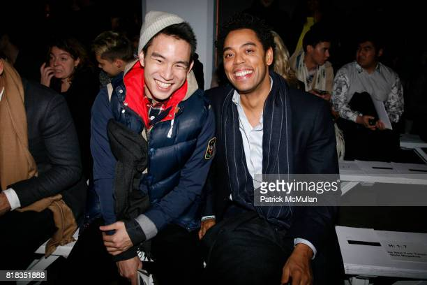 Eugene Tong and Wendall Brown attend ROBERT GELLER Fall 2010 Collection at Exit Art on February 12 2010 in New York City