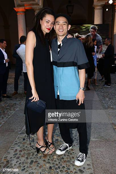 Eugene Tong attends DETAILS Magazine Cocktail Party on June 20 2015 in Milan Italy