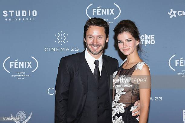 Eugenia 'China' Suarez and guest attend the Premio Iberoamericano De Cine Fenix 2016 at Teatro de La Ciudad on December 7 2016 in Mexico City Mexico