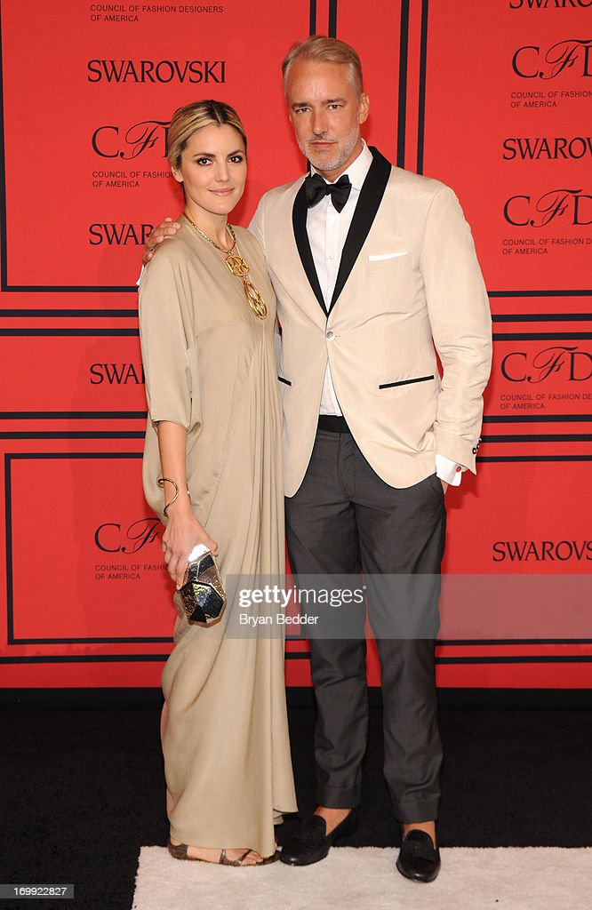 Eugenia Gonzalez (L) and Michael Bastian attend 2013 CFDA FASHION AWARDS Underwritten By Swarovski - Red Carpet Arrivals at Lincoln Center on June 3, 2013 in New York City.
