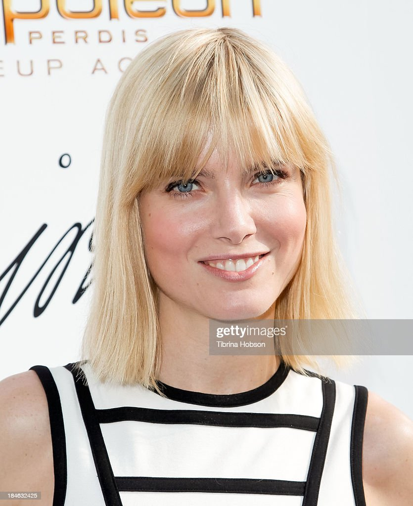 Eugenia Kuzmina attends the Greg Lavoi spring 2014 runway presentation at Kyoto Gardens on October 13, 2013 in Los Angeles, California.