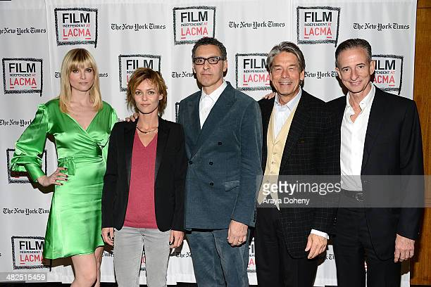 Eugenia Kuzmina Vanessa Paradis John Turturro Bill Lee and Bill Block attend the Film Independent at LACMA screening and QA of 'Fading Gigolo' at...