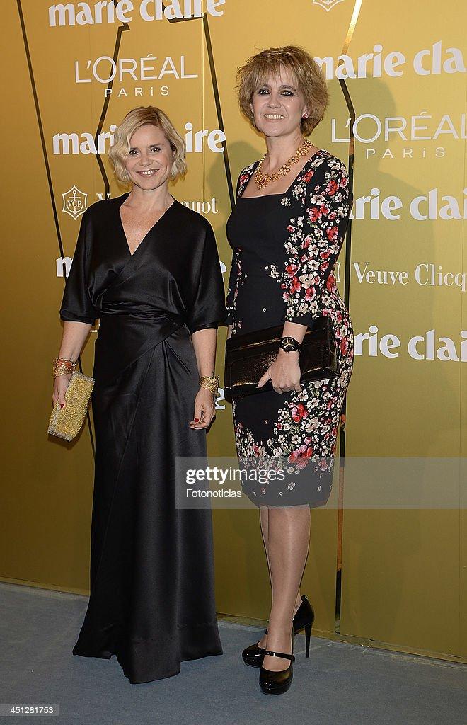 Eugenia Martinez de Irujo and Rosa Tousattends 'Marie Claire Prix de la Moda' 2013 at the French Ambassador residence on November 21, 2013 in Madrid, Spain.