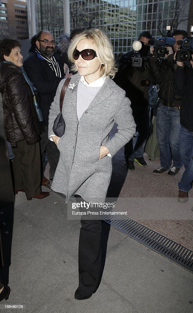 Eugenia Martinez de Irujo attends court on January 14, 2013 in Madrid, Spain. The bullfighter Francisco Rivera and ex wife Duchess of Montoro Eugenia Martinez de Irujo are fighting for the custody of their daughter.