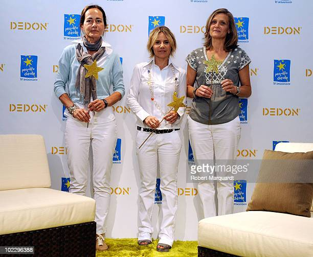 Eugenia Martinez de Irujo attends the DEDON company's second edition charity support of 'Pequeno Deseo' at the DEDON furniture showroom on June 22...