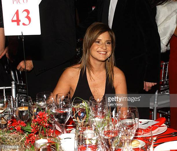 Eugenia Martinez de Irujo during In Style Magazine Spring Dinner at La Riviera Club in Madrid Spain