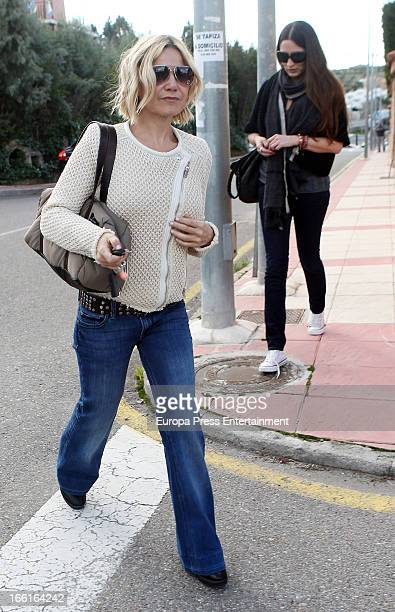 Eugenia Martinez de Irujo is seen leaving Jose Bono's home after a lunch on March 20 2013 in Bargas Spain