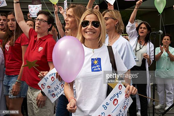 Eugenia Martinez de Irujo visits the Gregorio Maranon Hospital during the 'Hospitalized Children National Day' on May 13 2015 in Madrid Spain