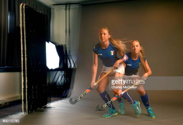 Eugenia Mastronardi of Italy during a player portrait photo session for FINTRO Hockey World League on June 23 2017 in Brussels Belgium The players...
