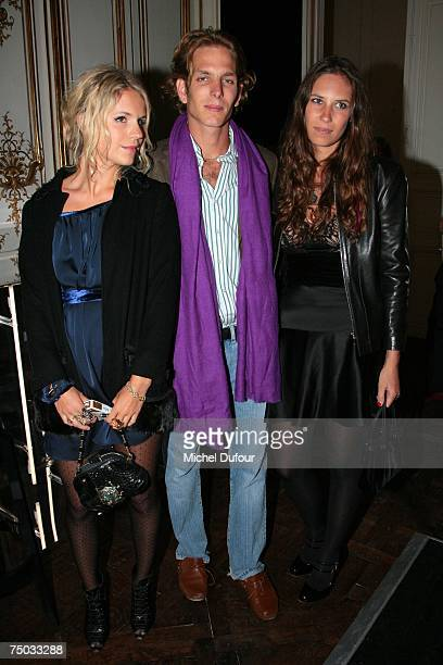 Eugenia Niarchos Andreas Casiraghi and Tatiana Santo Domingo attend the Karl Lagerfeld party hosted by Dom Perignon at Lagerfeld's home on July 4...