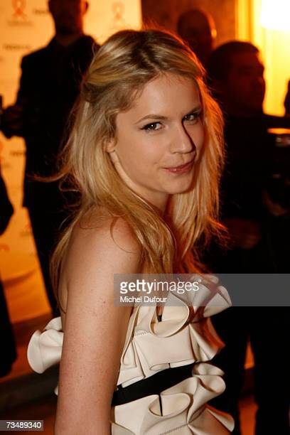 Eugenia Niarchos arrives at the Valli party during Paris fashion week Fall/Winter 2008 on March 3 2007 in Paris France
