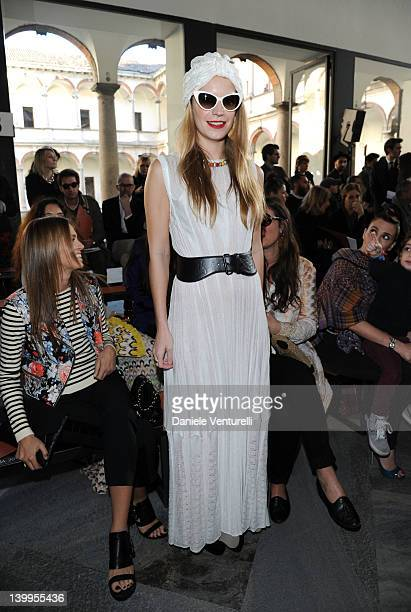Eugenia Niarchos attends the Missoni Autumn/Winter 2012/2013 fashion show as part of Milan Womenswear Fashion Week on February 26 2012 in Milan Italy
